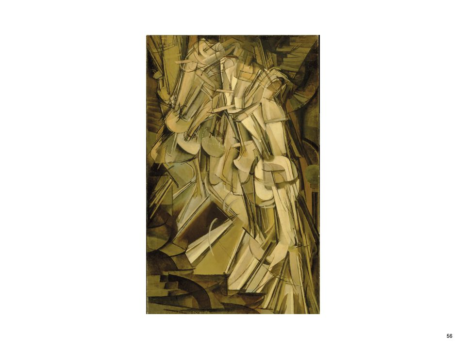 Antirealistic portrait. Nude Descending a Staircase by Marcel Duchamp