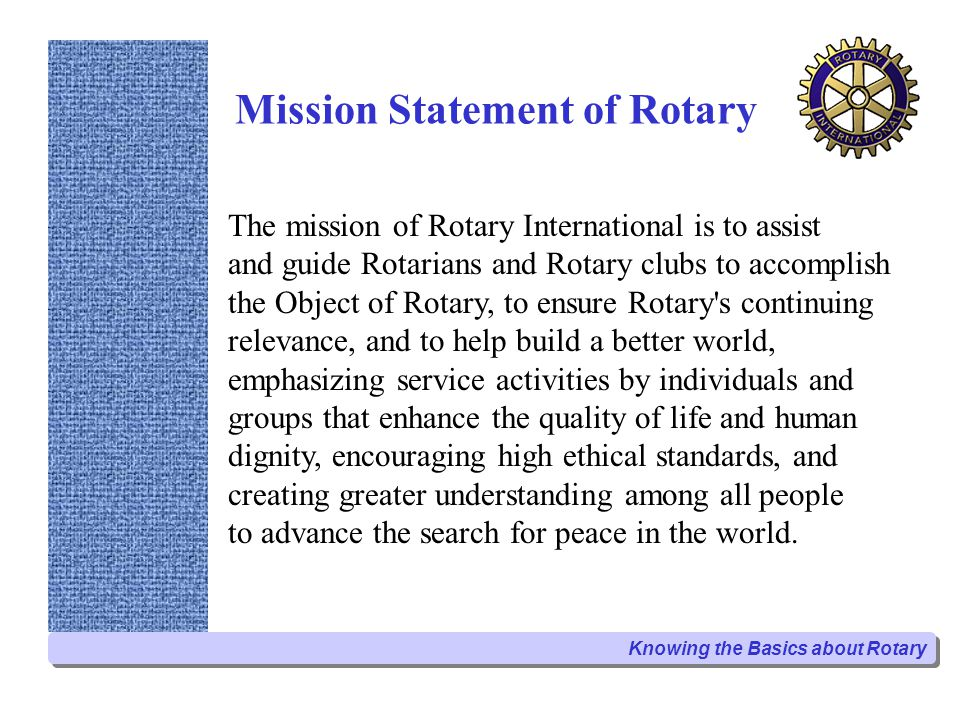 Mission Statement of Rotary