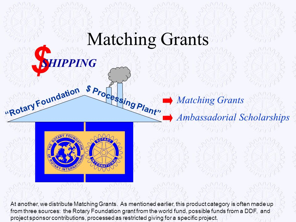 $ Matching Grants SHIPPING Matching Grants Ambassadorial Scholarships