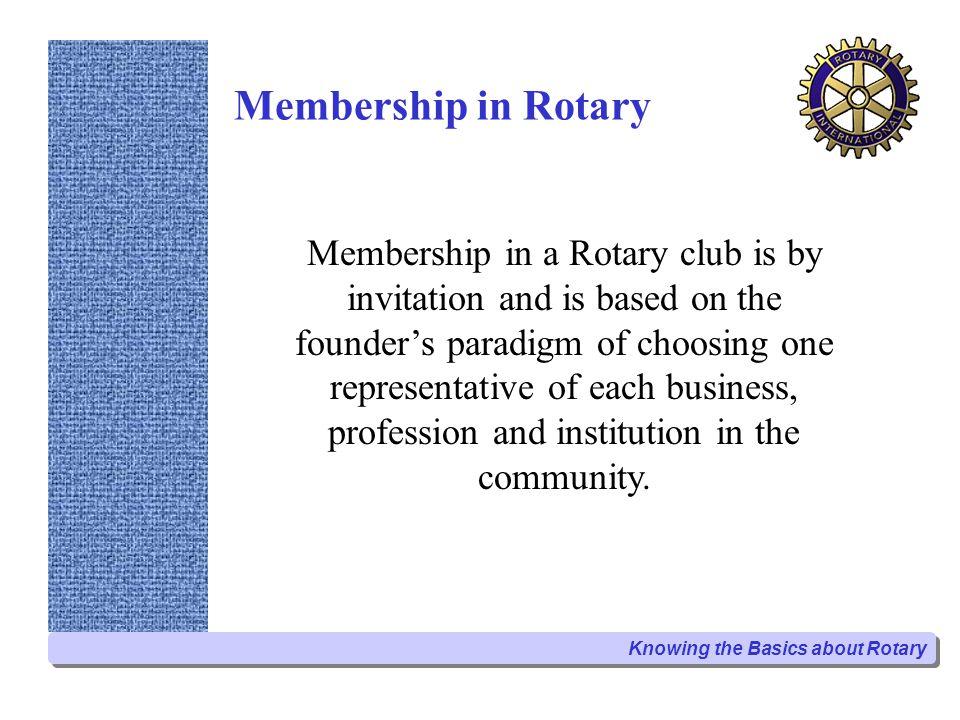 Membership in Rotary