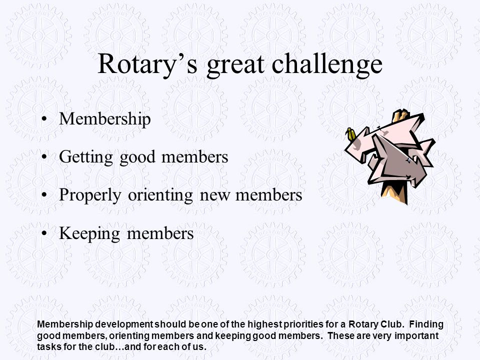 Rotary's great challenge