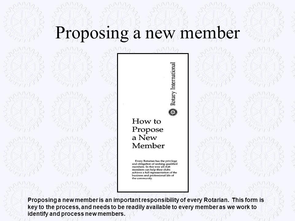 Proposing a new member