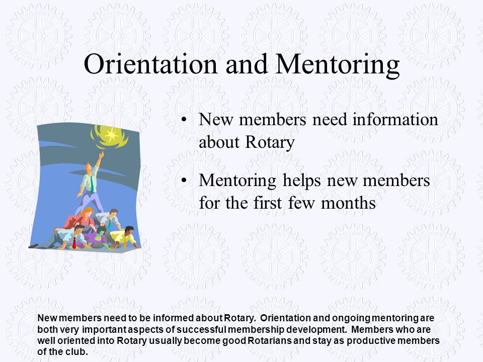 Orientation and Mentoring