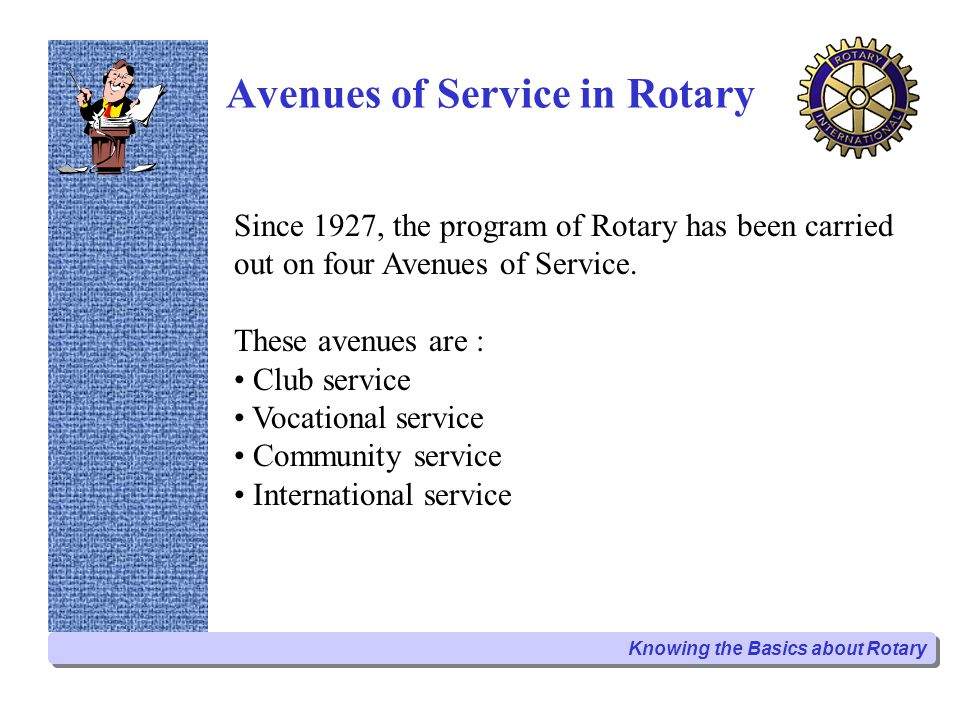 Avenues of Service in Rotary