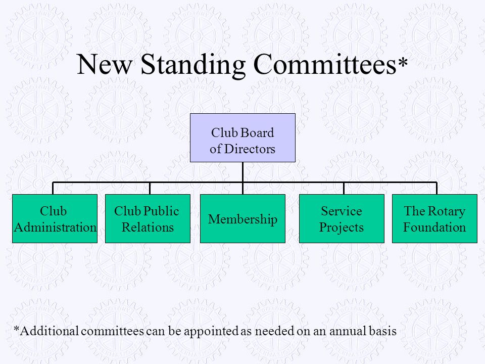 New Standing Committees*