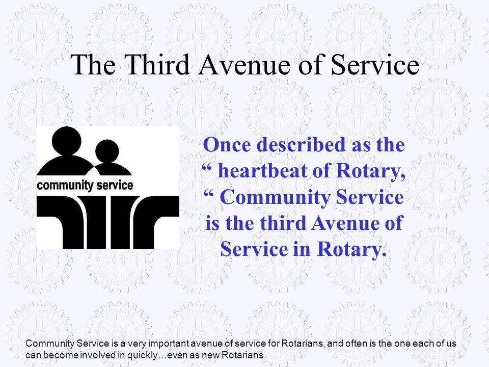The Third Avenue of Service