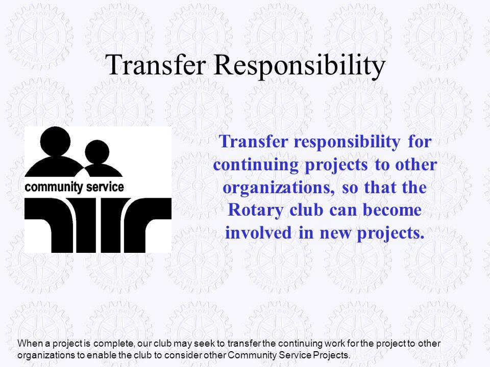 Transfer Responsibility