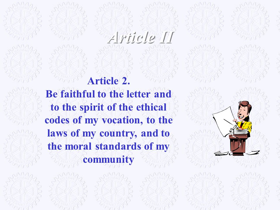 Article II Article 2.