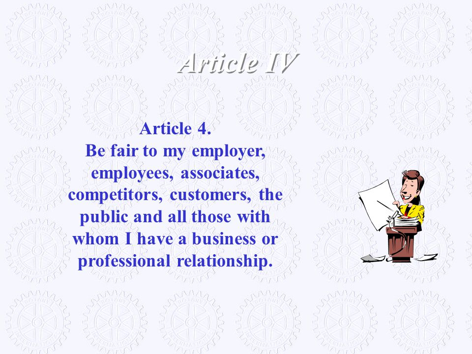 Article IV Article 4.