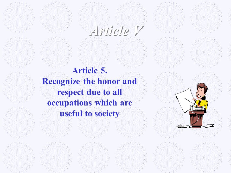 Article V Article 5.