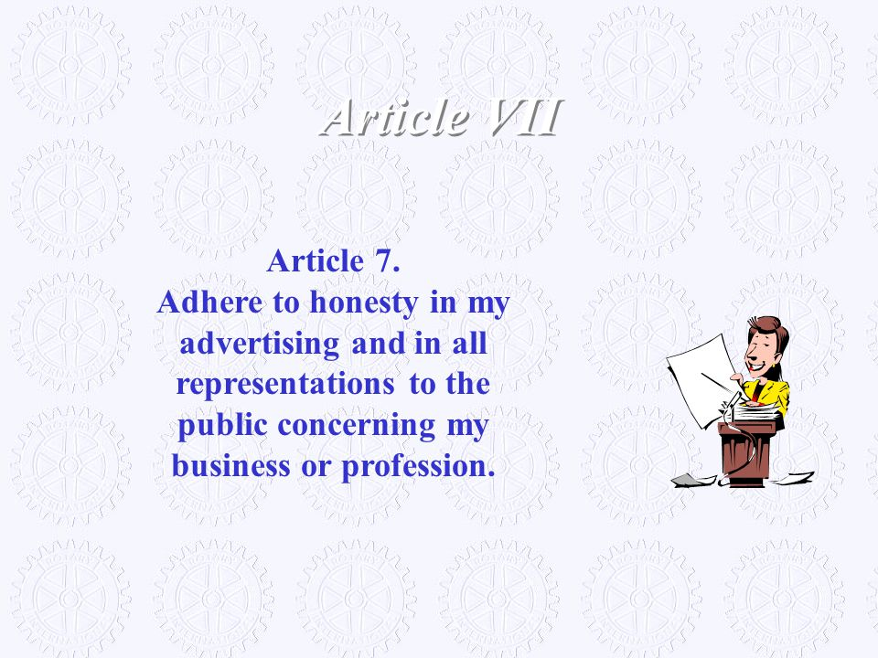 Article VII Article 7.