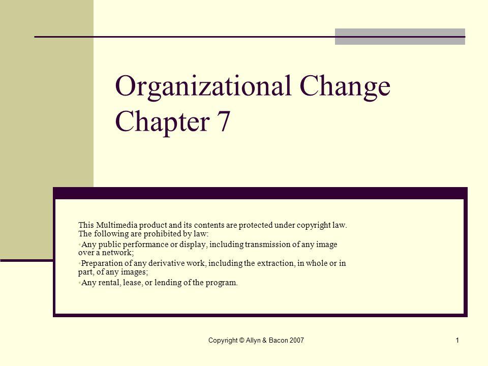 Organizational Change Chapter 7