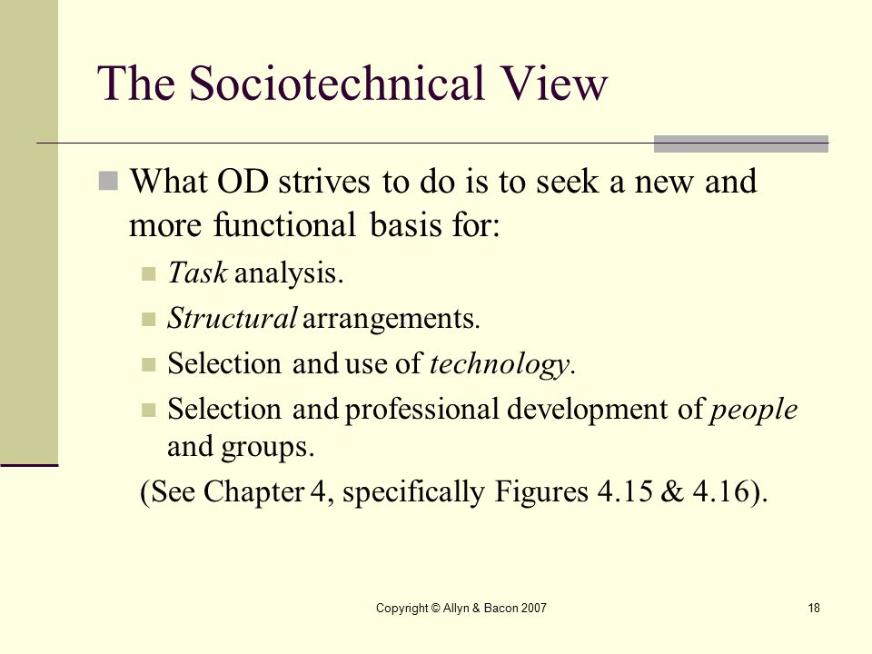 The Sociotechnical View