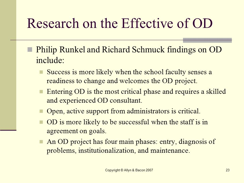 Research on the Effective of OD