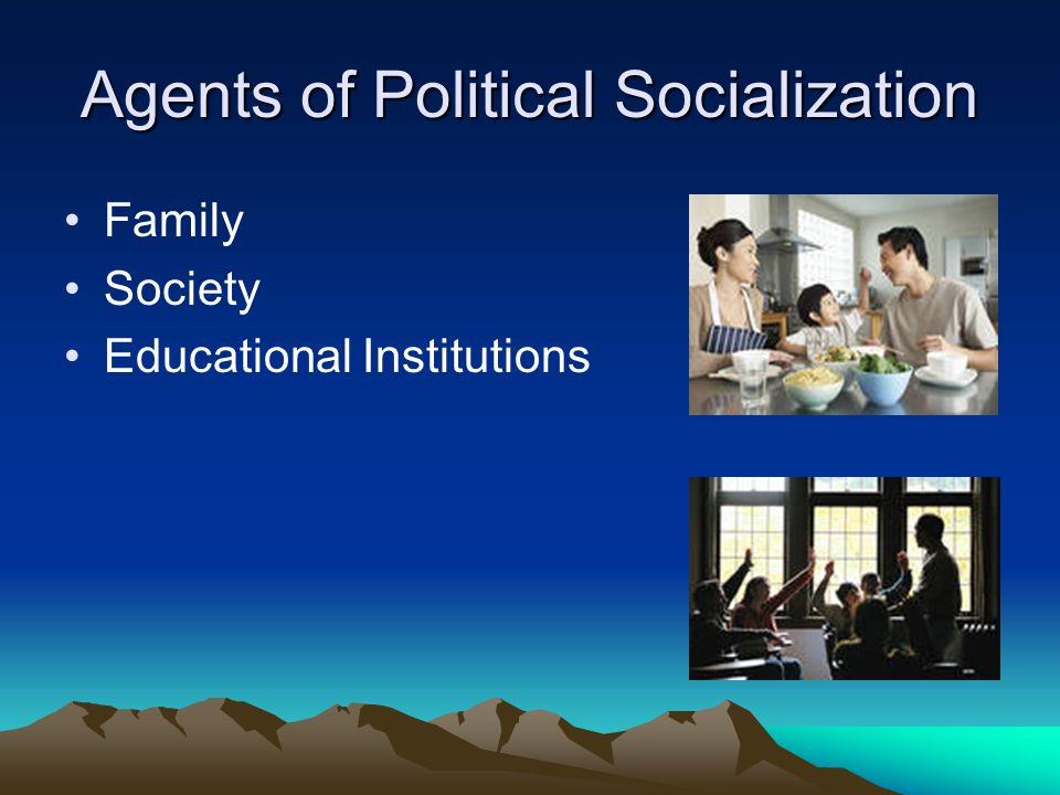 political socialisation essay Political socialization essaysa person is fed information throughout their life from various outside influences, this is how one forms values, views and opinions, and from this, one shapes their political views based on.