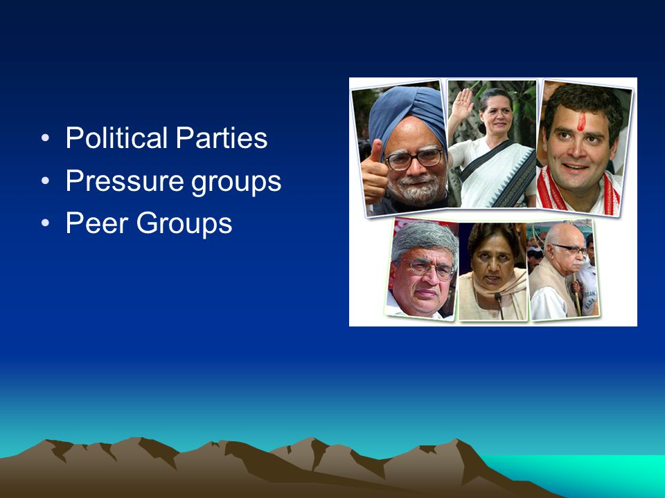 Political Parties Pressure groups Peer Groups