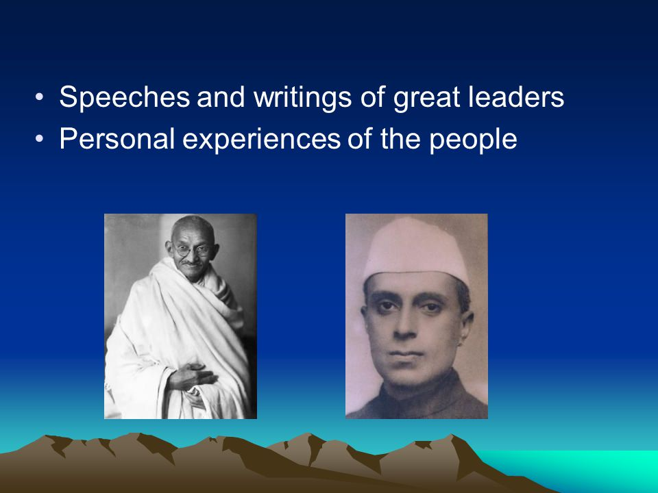 Speeches and writings of great leaders