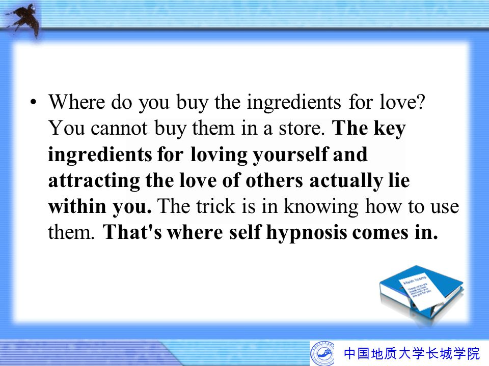 Where do you buy the ingredients for love