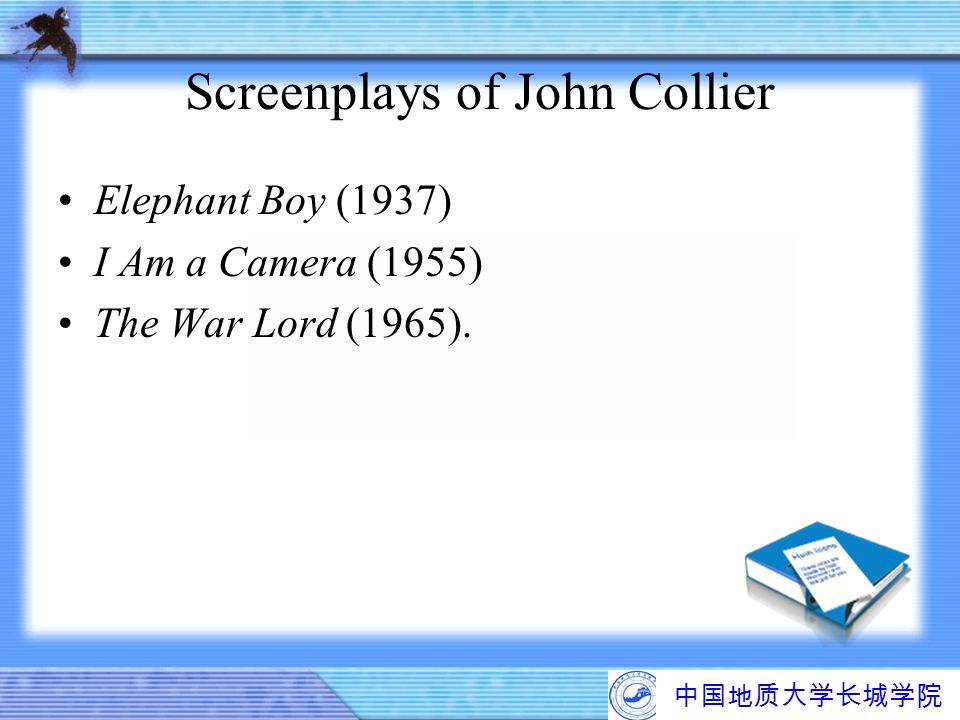 Screenplays of John Collier