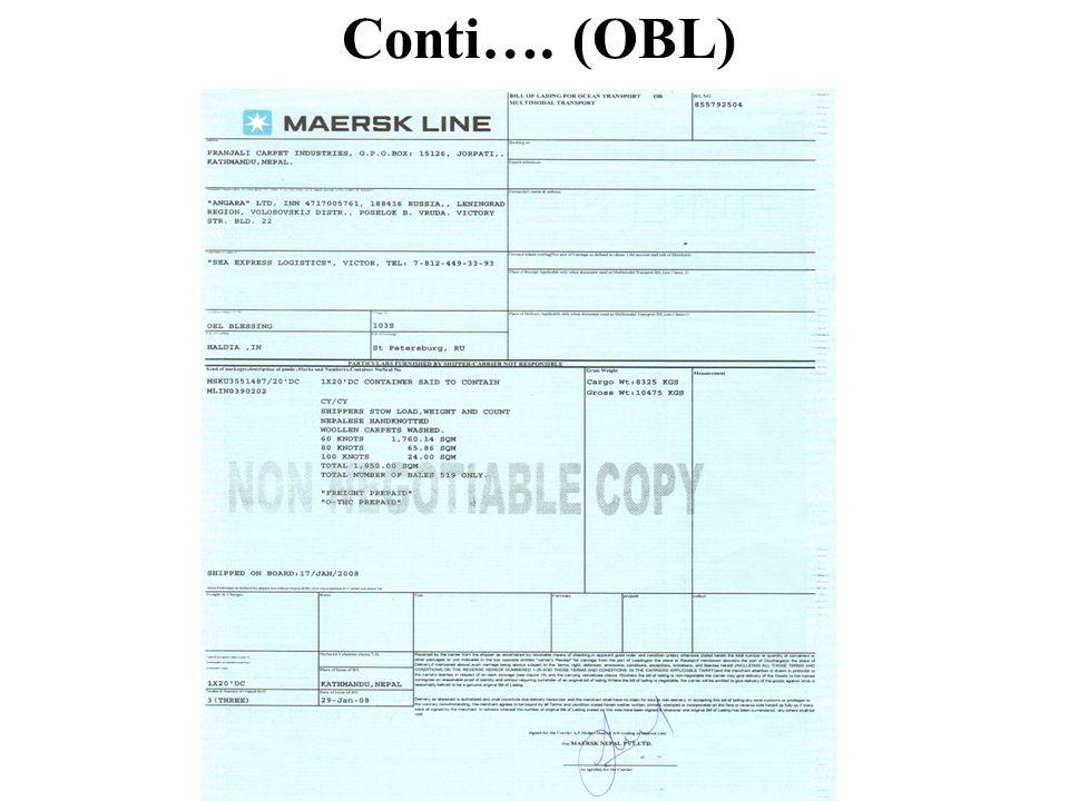 Conti…. (OBL)
