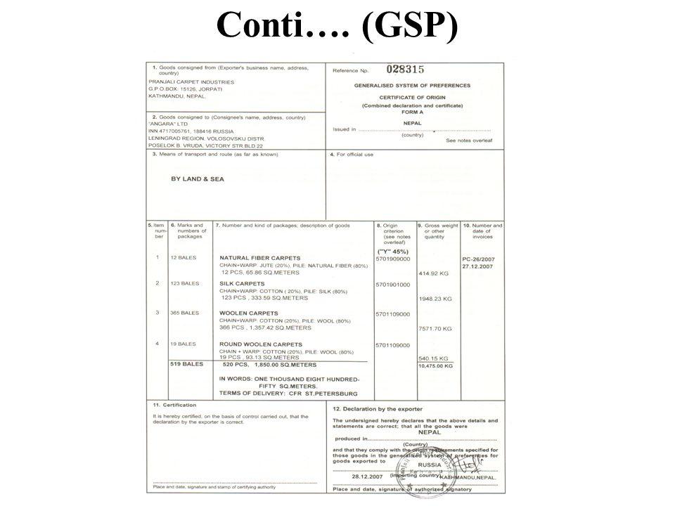 Conti…. (GSP)