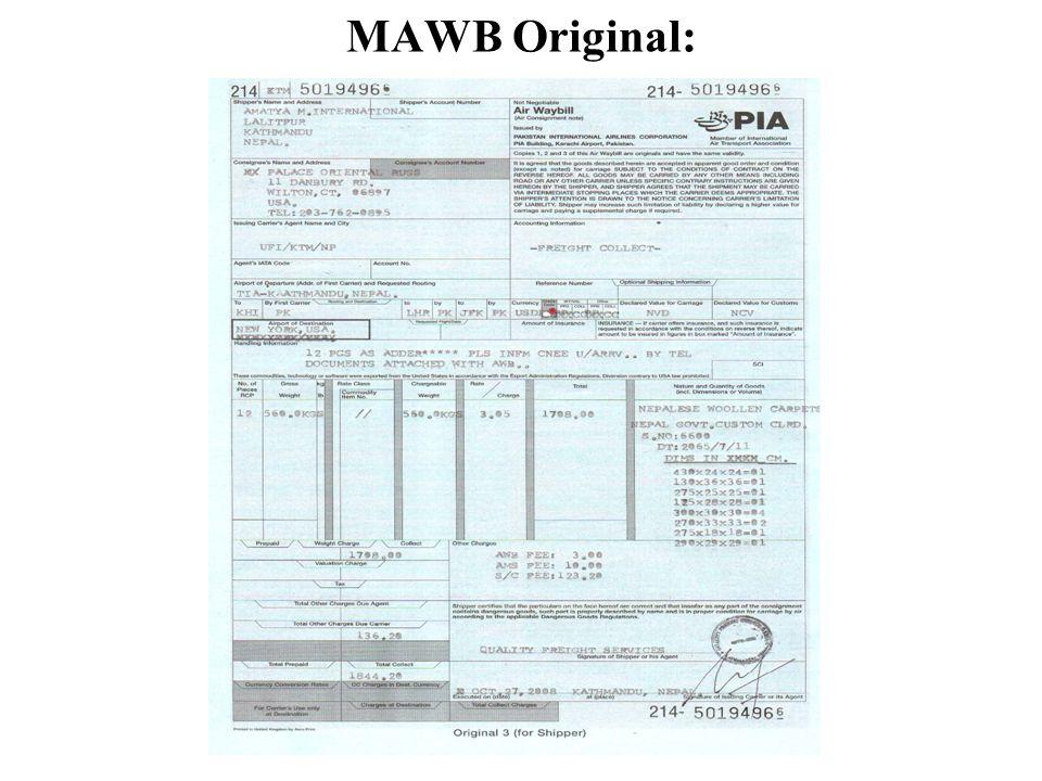 MAWB Original: