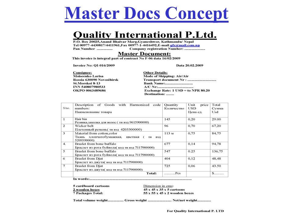 Master Docs Concept