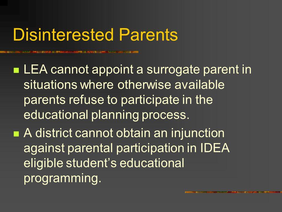 Disinterested Parents