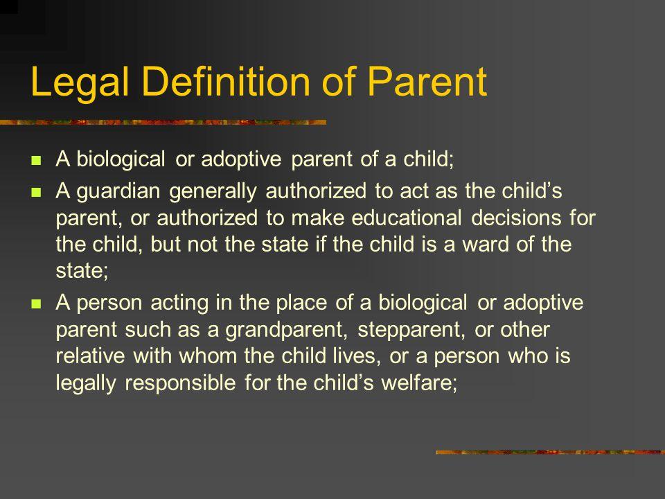 Legal Definition of Parent