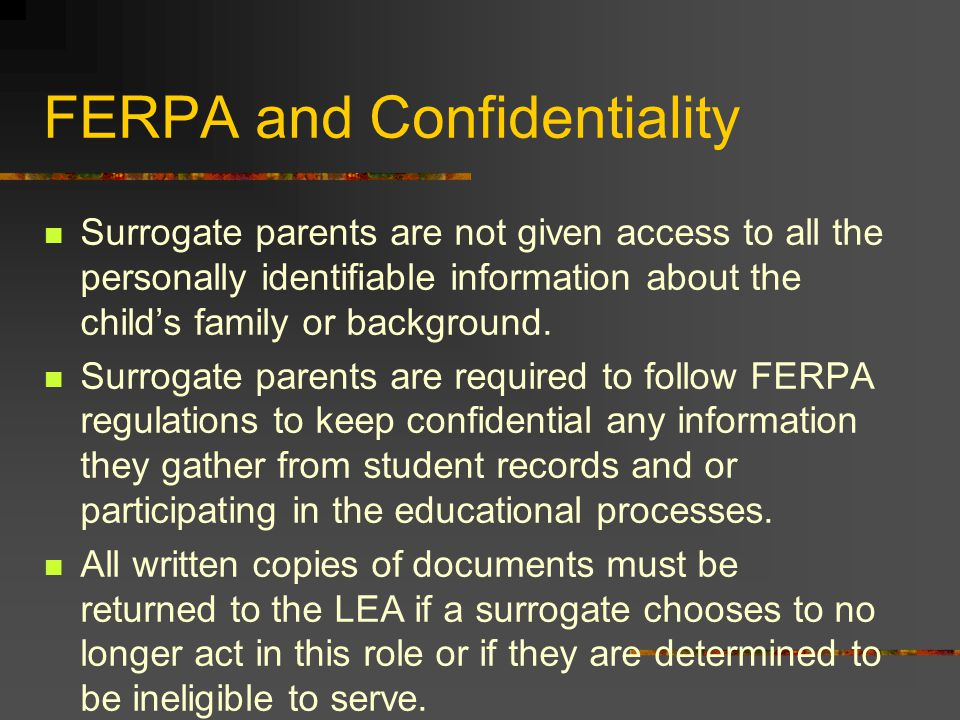 FERPA and Confidentiality