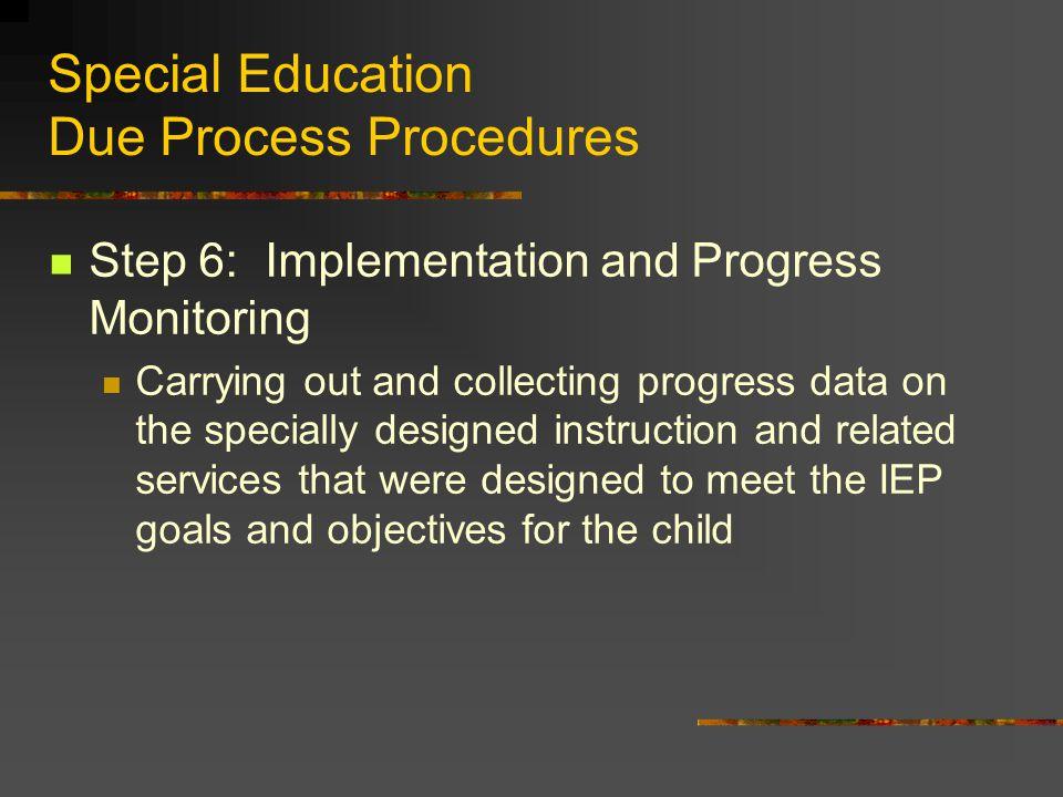 Special Education Due Process Procedures