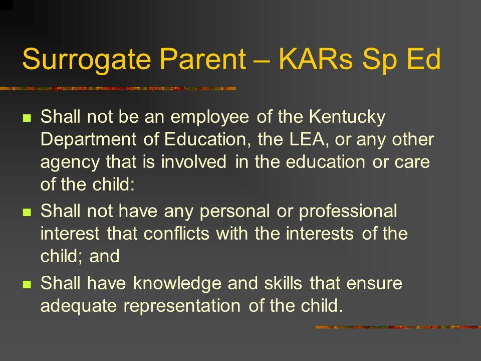Surrogate Parent – KARs Sp Ed