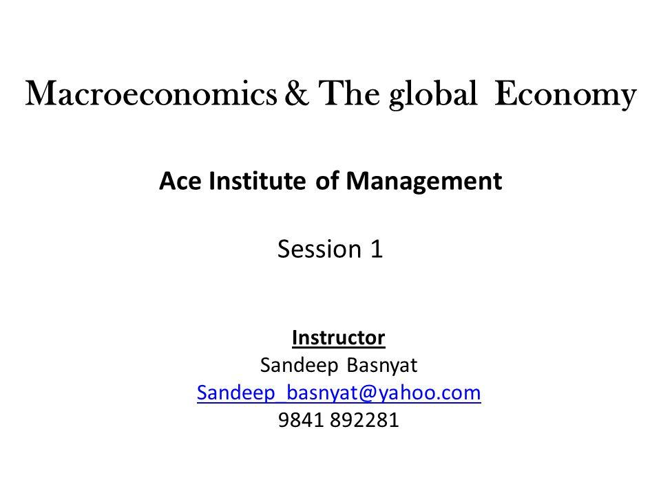 Instructor Sandeep Basnyat Sandeep_basnyat@yahoo.com 9841 892281