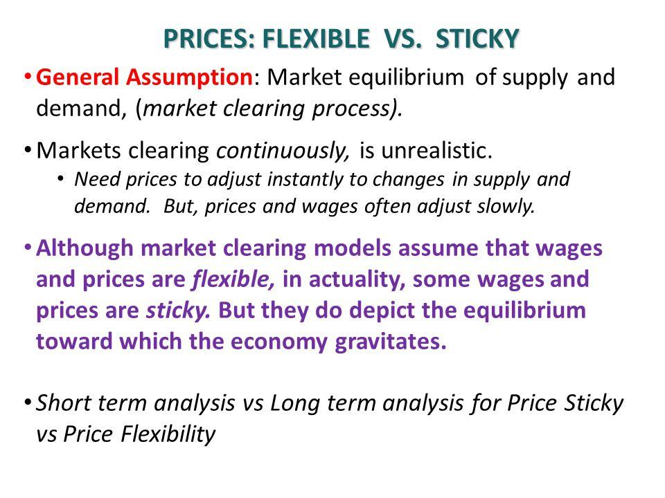 Prices: flexible vs. sticky