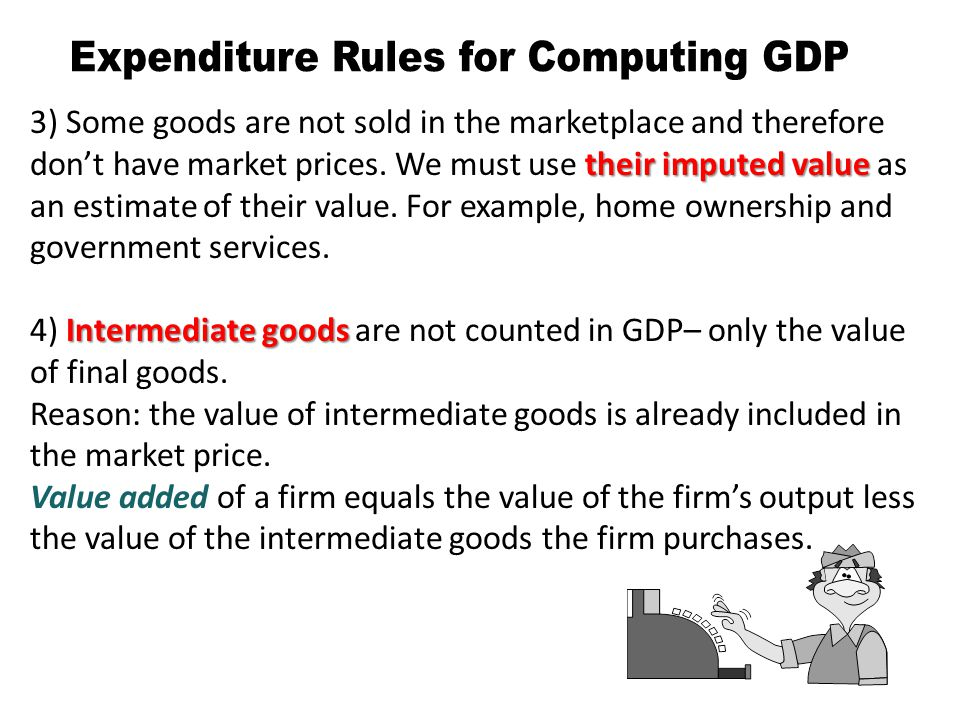Expenditure Rules for Computing GDP