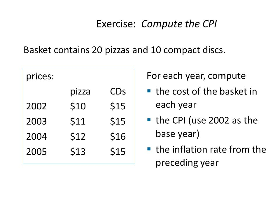 Exercise: Compute the CPI