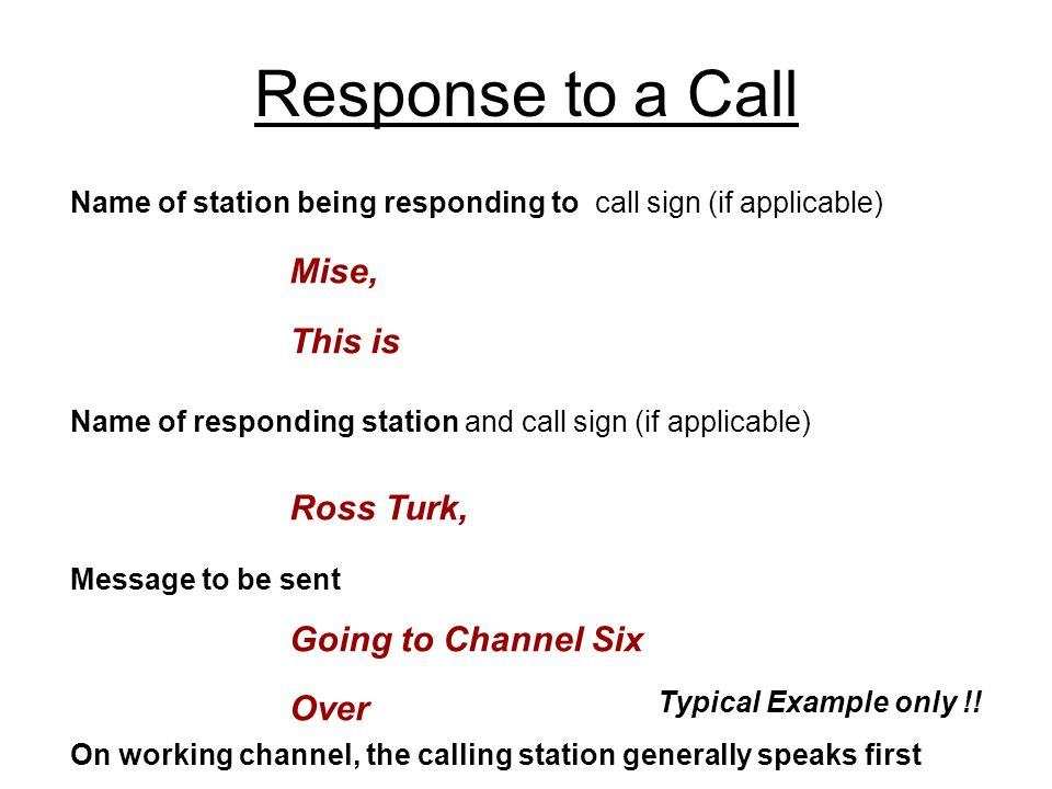 Response to a Call Mise, This is Ross Turk, Going to Channel Six Over