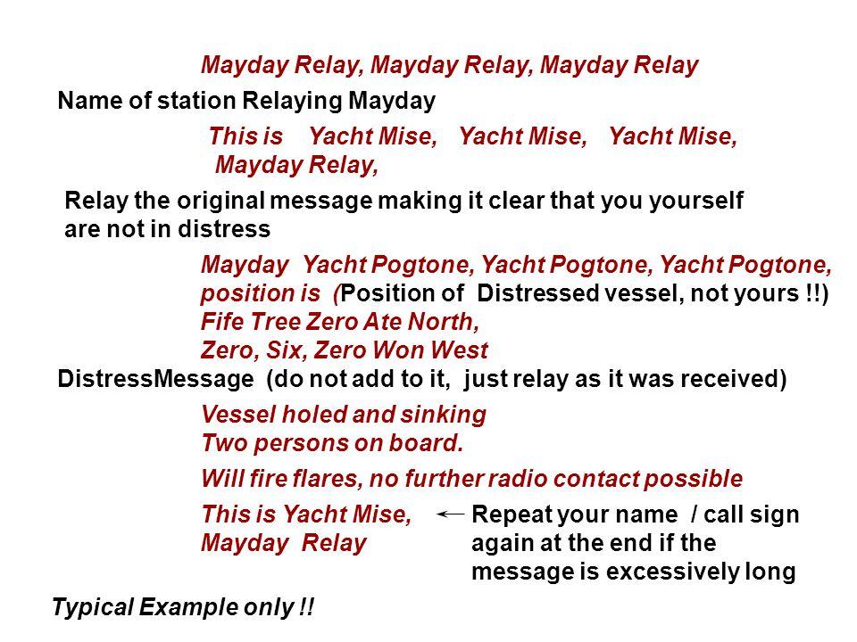 Mayday Relay, Mayday Relay, Mayday Relay