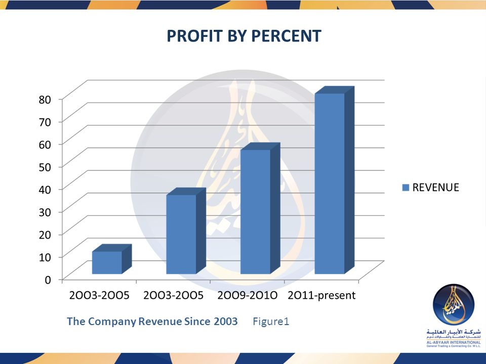PROFIT BY PERCENT Figure1 The Company Revenue Since 2003