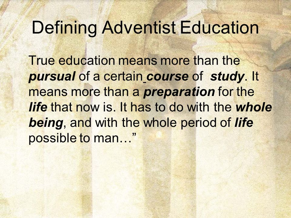 Defining Adventist Education