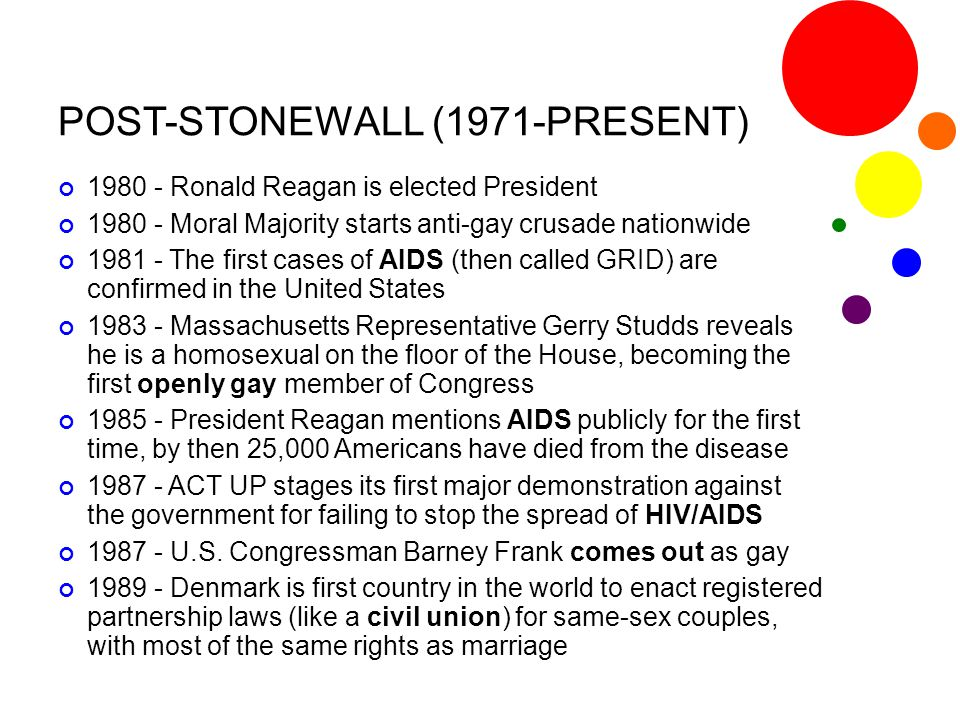 POST-STONEWALL (1971-PRESENT)