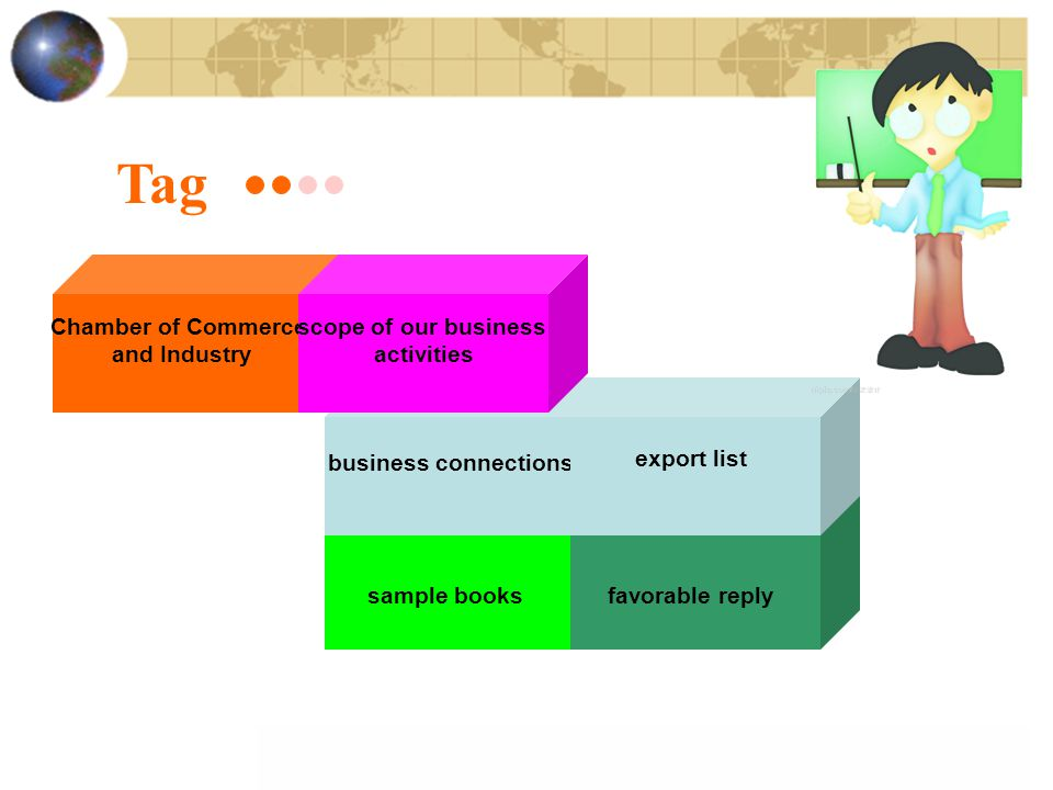 Tag Chamber of Commerce and Industry scope of our business activities