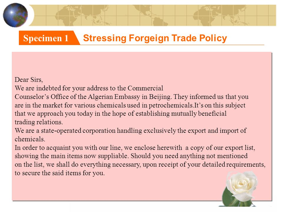 Stressing Forgeign Trade Policy