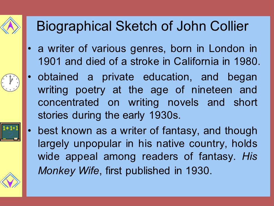 Biographical Sketch of John Collier
