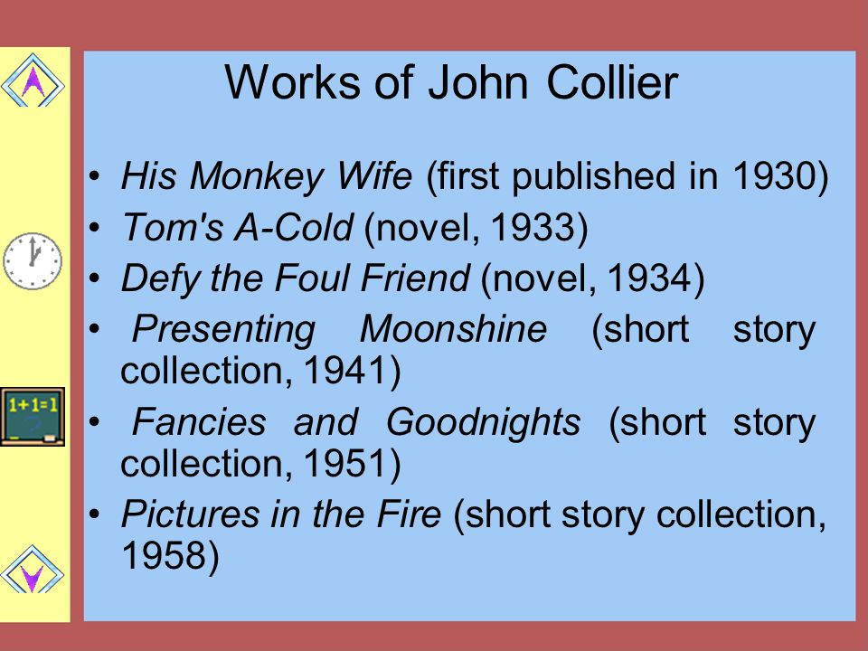 Works of John Collier His Monkey Wife (first published in 1930)