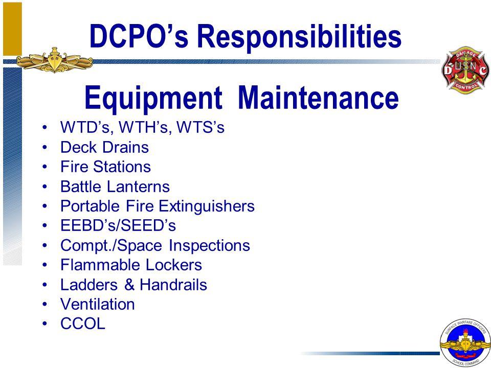 DCPO's Responsibilities