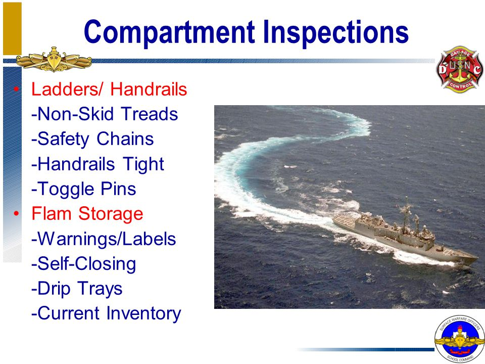Compartment Inspections