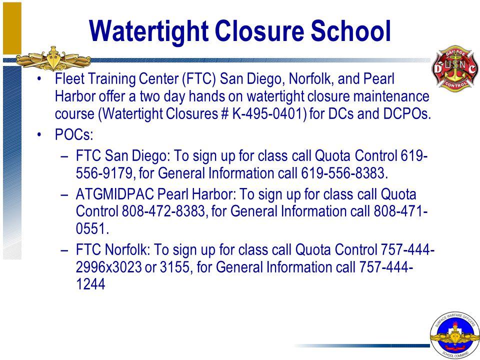 Watertight Closure School