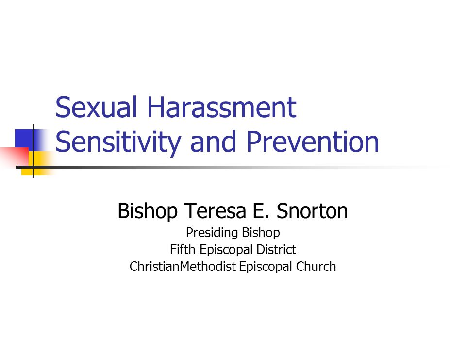 Sexual Harassment Sensitivity and Prevention