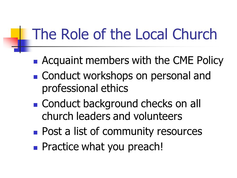 The Role of the Local Church